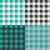 St?ll in av 4 vichy modeller f?r gingham f?r picknickfilt- eller borddukdesign vektor illustrationer