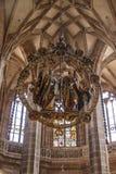 St Lorenz Church en Nuremberg, Alemania, 2015 Imágenes de archivo libres de regalías