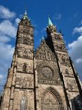 St. Lorenz Church in Nürnberg/in Deutschland stockbilder