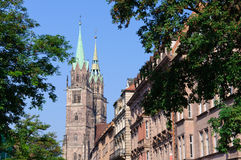 St. Lorenz Church in Nuremberg, Germany Stock Images