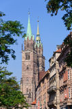 St. Lorenz Church in Nuremberg, Germany Royalty Free Stock Images