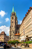 St. Lorenz Church in Nuremberg - Germany Stock Image