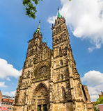 St. Lorenz Church in Nuremberg - Germany Stock Photography