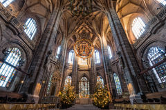 St. Lorenz church in the Nuremberg, Germany Stock Image