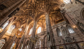 St. Lorenz church in the Nuremberg, Germany Stock Photography