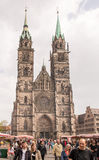 St. Lorenz Church in Nuremberg Stock Photos