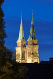 St. Lorenz Church towers Royalty Free Stock Photos