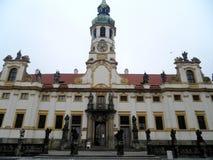 St Loretta Church, Prague, Tjeckien Arkivbild
