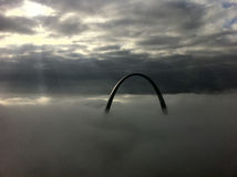 St. Louis Arch on a Foggy Morning Stock Images
