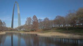 St. Louis Arch Gateway Park stock video