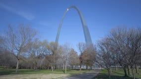 St. Louis Arch Gateway Park stock video footage