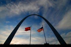 St Louis Arch Metal Gateway Landmark royaltyfria bilder