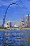 St. Louis Arch from Mississippi River, St. Louis, MO Royalty Free Stock Photos