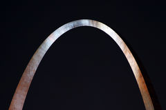 St. Louis Arch-Night-Gleam stock images
