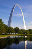 St. Louis arch and reflection Royalty Free Stock Photos
