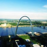 St. Louis Arch with shadow Stock Photo