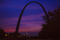 St. Louis Arch at Sunrise Stock Images
