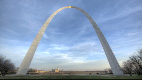 St. Louis Arch Sunset stock video footage