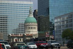 St Louis Architecture avec le vieux tribunal Photos libres de droits