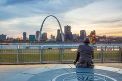 St Louis céntrica fotografía de archivo