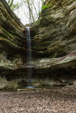 St. Louis Canyon waterfall. In Starved Rock State Park in Illinois shot in springtime with a small water trickle Stock Photography