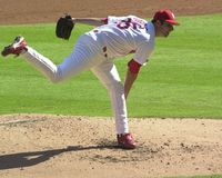 Matt Morris. St. Louis Cardinals pitcher Matt Morris.  Image taken from color slide Royalty Free Stock Photo