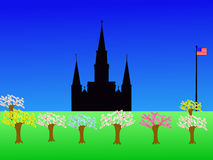 St Louis Cathedral. Jackson Square New Orleans in springtime Royalty Free Stock Image