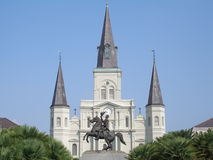 St. Louis Cathedral. From across Jackson Square. New Orleans, LA Stock Photos