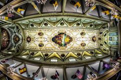St. Louis Cathedral Ceiling Fisheye View. 6-30-14 New Orleans - Taken with a fisheye lens of the St. Louis Cathedral ceiling stock photography