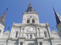St. Louis Cathedral closeup. Closeup of St. Louis Cathedral. New Orleans, LA Stock Photos