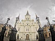 St Louis Cathedral en el barrio francés de LA de New Orleans foto de archivo libre de regalías