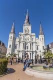 St Louis Cathedral en Jackson Square in Frans Kwart, New Orleans, Louisiane royalty-vrije stock afbeeldingen
