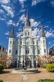 St Louis Cathedral en Jackson Square in Frans Kwart, New Orleans, Louisiane stock fotografie