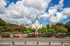 St. Louis Cathedral in the French Quarter, New Orleans, Louisian Royalty Free Stock Image