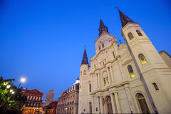 St. Louis Cathedral in the French Quarter, New Orleans, Louisian Stock Photo
