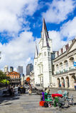 St. Louis cathedral in the French Quarter in New Orleans Royalty Free Stock Photography