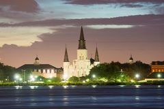 St. Louis Cathedral, New Orleans, Louisiana, USA royalty free stock photos
