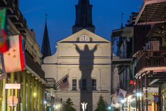St Louis Cathedral in het Franse Kwart, New Orleans, Louisian royalty-vrije stock afbeelding