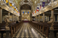 St. Louis Cathedral interior Royalty Free Stock Images