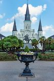 St. Louis Cathedral on Jackson Square royalty free stock photography