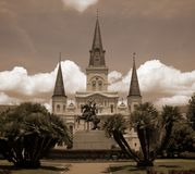 St Louis Cathedral stock photos