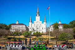 St. Louis Cathedral, Jackson Square, New Orleans Royalty Free Stock Image