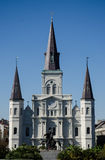 St. Louis Cathedral - New Orleans. The Cathedral-Basilica of Saint Louis, King of France, also called St. Louis Cathedral (French: Cathédrale Saint-Louis, Roi Royalty Free Stock Photo