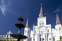 St. Louis Cathedral in New Orleans. Historic buildings St. Louis Cathedral in New Orleans, Louisiana USA Stock Photo
