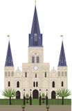 St. Louis Cathedral. New Orleans. Vector Stock Image