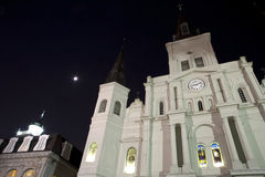 St. Louis Cathedral at night Royalty Free Stock Photo