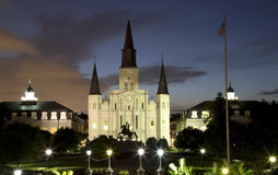 St. Louis Cathedral at night Royalty Free Stock Image