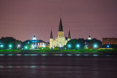 St Louis Cathedral no bairro francês, Nova Orleães, Louisian Fotografia de Stock