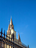 St Louis Cathedral och staket Arkivbild
