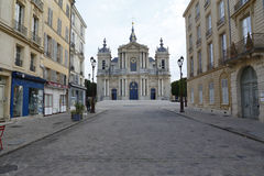 St. Louis Catholic Church in Town of Versailles, Yvelines, France - August, 2015 Stock Image